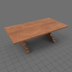 Antique low dining table