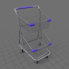Tiered shopping cart