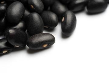 black beans isolated on white