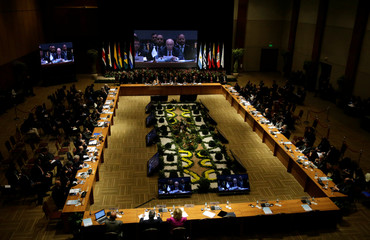 General view of the Mercosur trade bloc annual summit in Luque