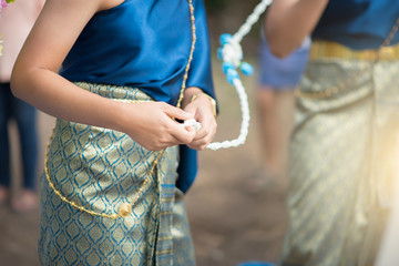 Thailand wedding ceremony style.