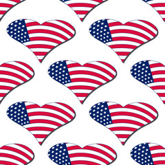 Independence Day of America endless pattern