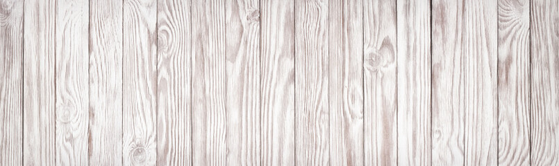 White wood texture, wide panoramic wallpaper background