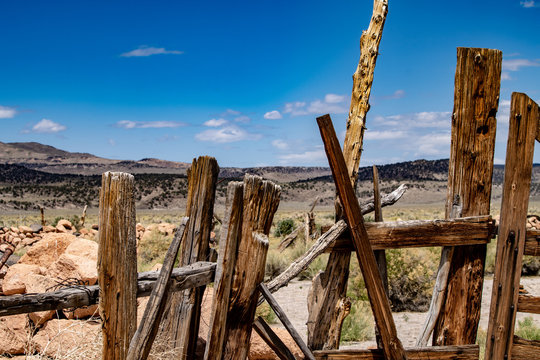 The Red Rock Corral on the Dobie Meadows Road, California