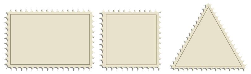 Set postage stamps