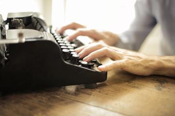 Using a vintage typewriter