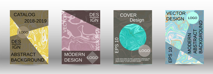 Marble texture covers set.