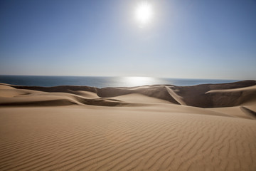 The Namib desert along side the atlantic ocean coast of Namibia, southern Africa