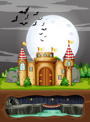 A Castle in the Dark Night