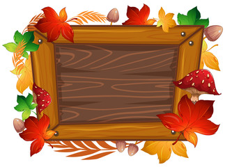 A Wooden Frame Autumn Theme