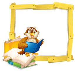 An Owl Reading Book Template
