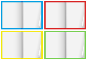 A Set of Blank Notebook