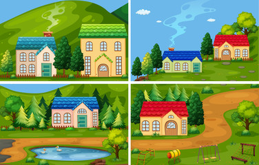 A Set of Forest House