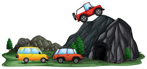 Offroad Car at the Mountain