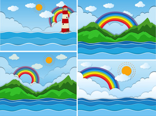 Beautiful Nature and Colourful Rainbow