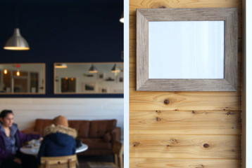Picture Frame in Coffee Shop