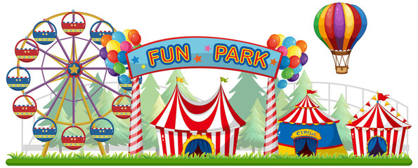 A Colourful Fun Park View