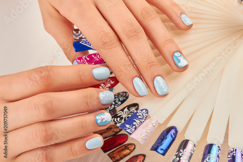 Well Groomed Hands With Beautiful Manicure Young Woman Hands With