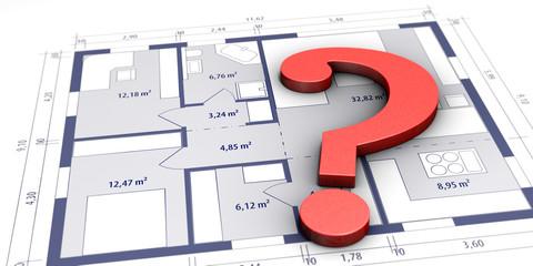 Obraz Fragen zum Hausbau - fototapety do salonu