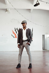 Confident African-American man looking at camera