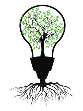 the green light bulb tree