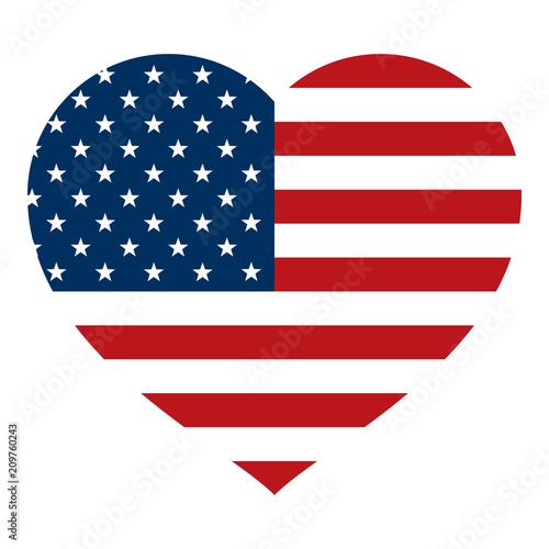 american flag inside heart vector graphic icon logo stock image rh us fotolia com american flag logo images american flag logo design