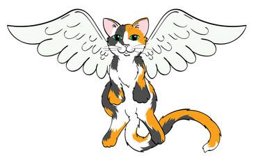 Calico Angel Cat