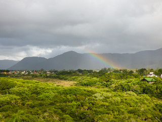 Rainbow over the Atlantic Forest in Florianopolis, Brazil