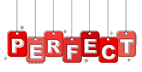 red flat line tag perfect