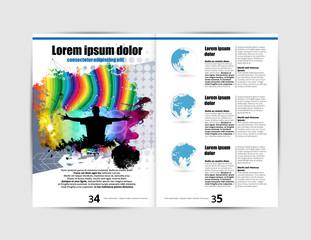 Music magazine, brochure layout easy to editable