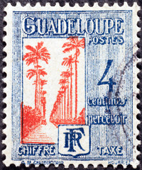 Vintage postage stamp of Guadalupe