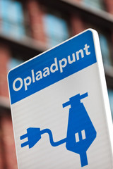 Dutch sign for charging an electric car