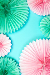Handmade Paper Flower Colorful Background Origami Decor
