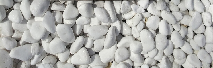 White rounded pebble texture pattern. Wall mural