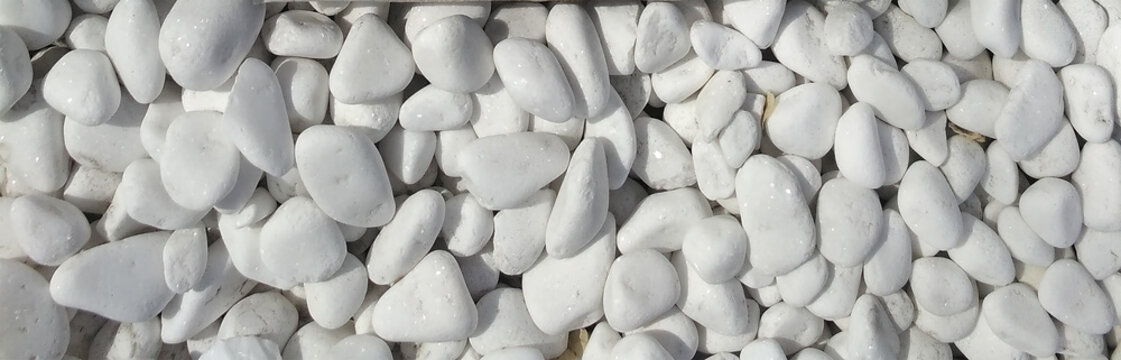 White rounded pebble texture pattern.