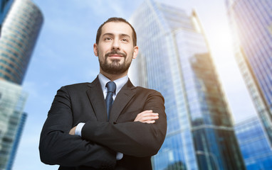Portrait of a smiling confident businessman