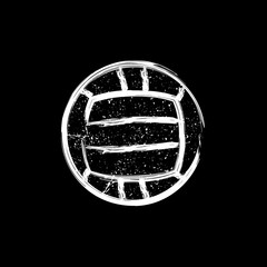 White grunge dotted water polo ball