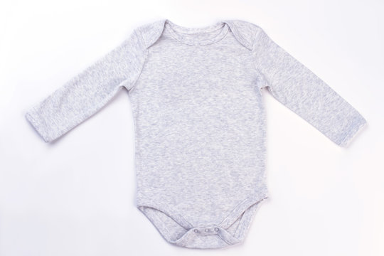 White cotton baby onesie.
