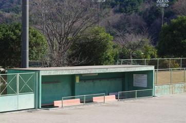 野球のベンチ