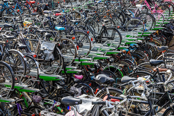 Photo sur Aluminium Rotterdam Biciclette in Olanda (Rotterdam)