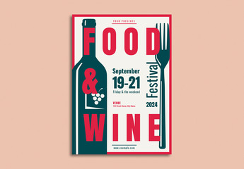 Food & Wine Festival Poster