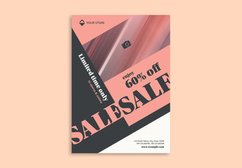 Sale Flyer Layout with Diagonal Elements
