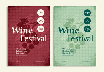 Wine Festival Flyer Layout
