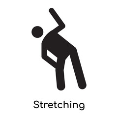 Stretching icon vector sign and symbol isolated on white background, Stretching logo concept icon