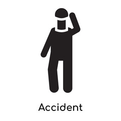 Accident icon vector sign and symbol isolated on white background, Accident logo concept icon