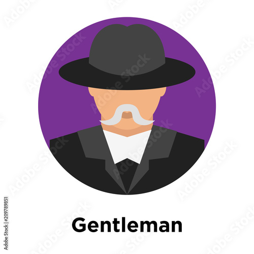 b7147f3d1f7f7 Gentleman icon vector sign and symbol isolated on white background ...