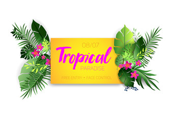 Tropical hot poster
