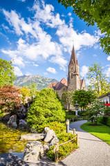 Fototapete - Beautiful landscape of Interlaken, Switzerland