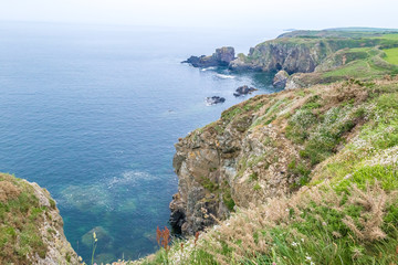 View of Pembrokeshire cliffes in Wales