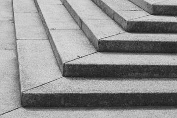 Treppe aus Steinen sw